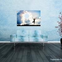 Wanddekoration  Bild in hellblauer Leichtigkeit