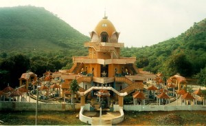 Nach Sri meru Yantra dreidimensional gebaut