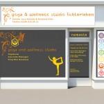 Aussenwerbung Fensterbeschriftung Yoga
