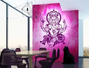 Ganesha Wandtattoo von Lichterleben