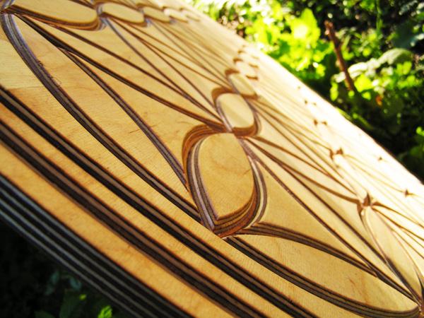 Blume des Lebens in Holz