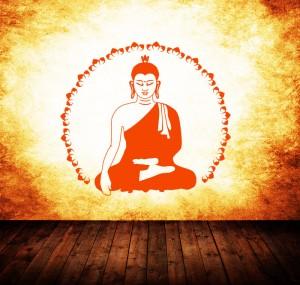 Buddha Lotus als Wandtattoo