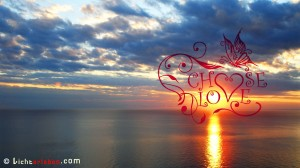 Wallpaper Choose Love am Meer