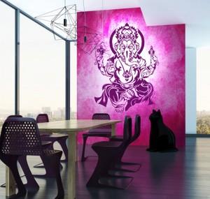 Ganesha Wandtattoo von Lichteleben
