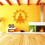 Wandtattoo Buddha Sonne