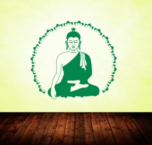 Wandtattoo Buddha Lotus