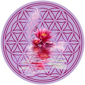 Blume des Lebens Glasuntersetzer in den Trendfarben 2014