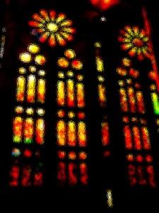Kirchenfenster Sagrada Familia von Gaudi