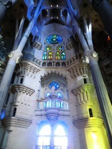 Symmetrie der Architektur von Gaudi