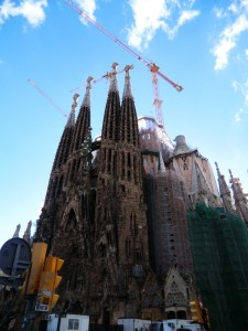 Sagrada Familia von Gaudi in Barecelona