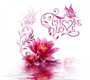 ChooseLove Wandtattoo in der Frabe Pink