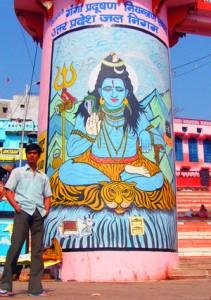 Krishna Hindu Gott Wandbild aus Varanasi