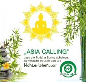 Buddha Sonne Wandtattoo von Lichterleben.com