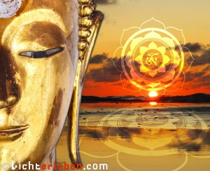 Lotus OM Golden Buddha Wallpaper