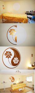 Yin Yang Lotus Wandtattoo