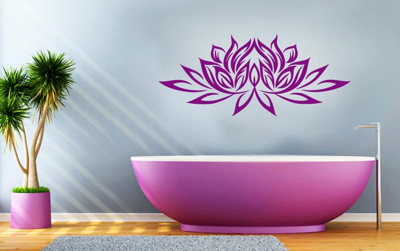Lotusblume Wandtattoo in der Farbe Pflaume von Lichterleben.com