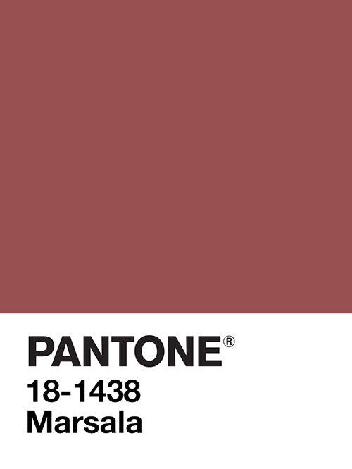 Marsala Trendfarbe 2015 der Firma Pantone