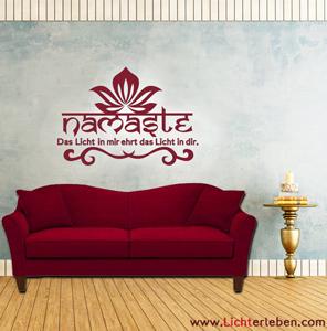 Namaste Wandtattoo