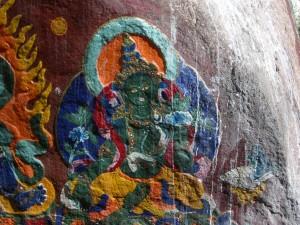 Felsmalerei Grüne Tara in Tibet