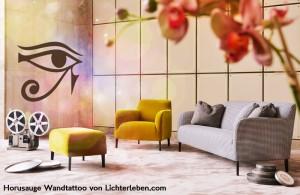 Horusauge Wandtattoo von Lichterleben com
