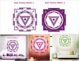 Wandtattoo Motive Kali Yantra