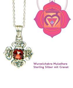 Muladhara Chakra mit Granat