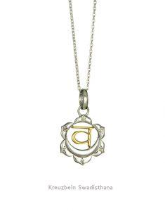 Swadhisthana Chakra Anhänger in Gold und Silber