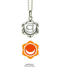 Swadhisthana Chakra Anhänger in Silber