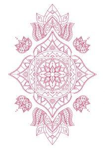 Chakra Mandala zum Ausmalen