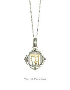 Gold & Silber Muladhara Chakra Kettenanhänger