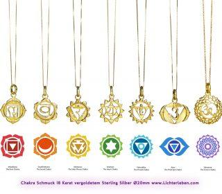 Chakra Kettenanhänger vergoldet