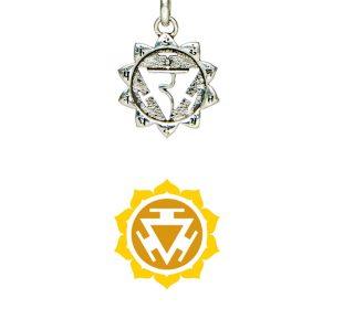 Chakra Anhänger Silber für Kette Schmuckanhänger