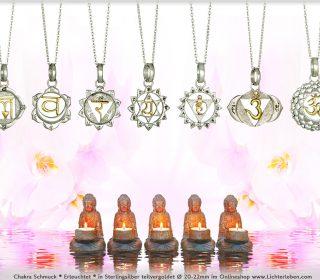 Chakra Kettenanhänger Silber und Gold