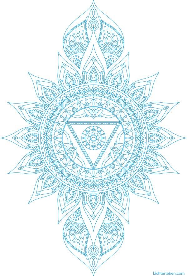 Vishuddha Chakra Mandala Ausmalbild