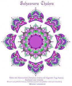Sahasrara Chakra Mandala Ausmalbild zum Download