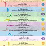 Yoga Sonnengruss mit Mantra in Sanskrit Grafik Fotodruck Produkt für Yogastudio