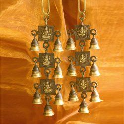 Ganesha Produkte Windspiel Messing