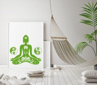 Buddha Wandtattoo Yogaraum