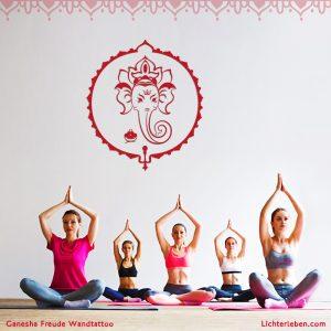 Ganesha Wandtattoo Yogastudio