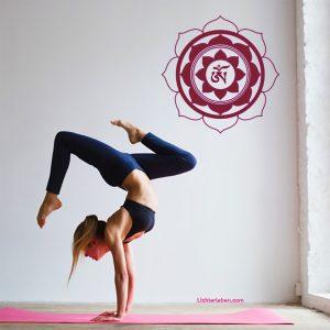 Lotus OM Symbol Wandtattoo