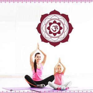 OM Mandala Wandtattoo Yoga