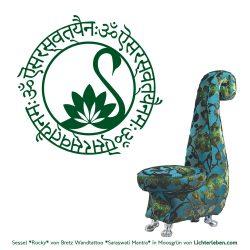 Saraswati Mantra Wandtattoo Yoga