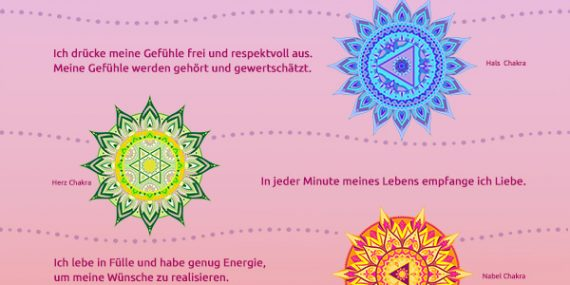 Chakra Affirmation Selbst-Liebe Mantra