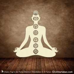 Chakra Yoga Wandtattoo Wanddeko