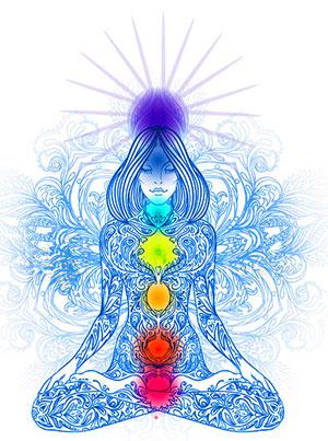 Yogi in Chakra Mediattion