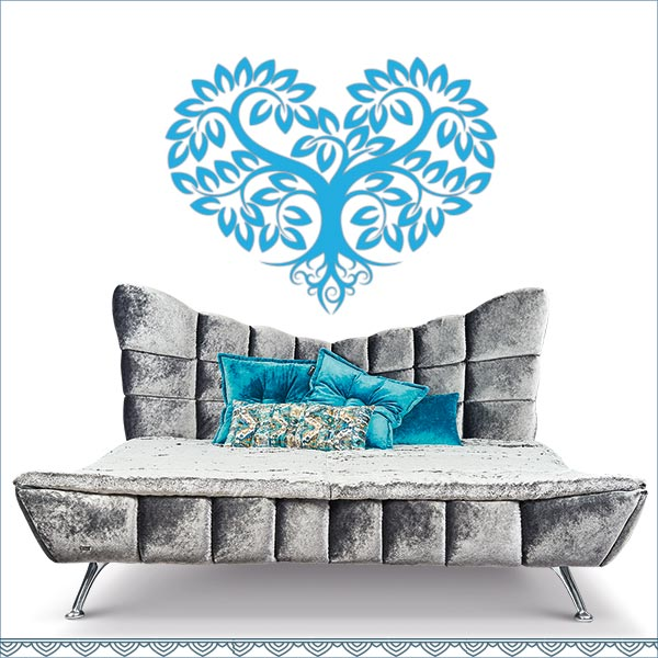 Wandtattoo Herzbaum von Lichterleben Bett *Cloud7* von Bretz
