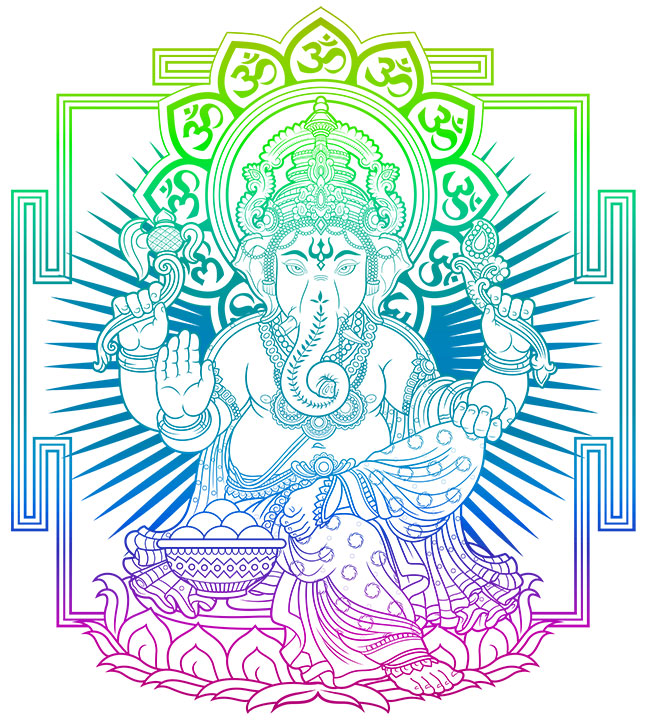 Ganesha Ausmalbild Download