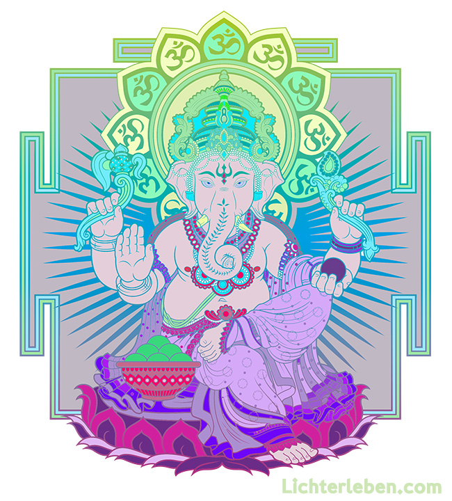 Ganesha Ausmalbild zum Download