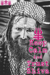 Yogastudio Guru Keep Calm and Trust Shiva Wanddeko