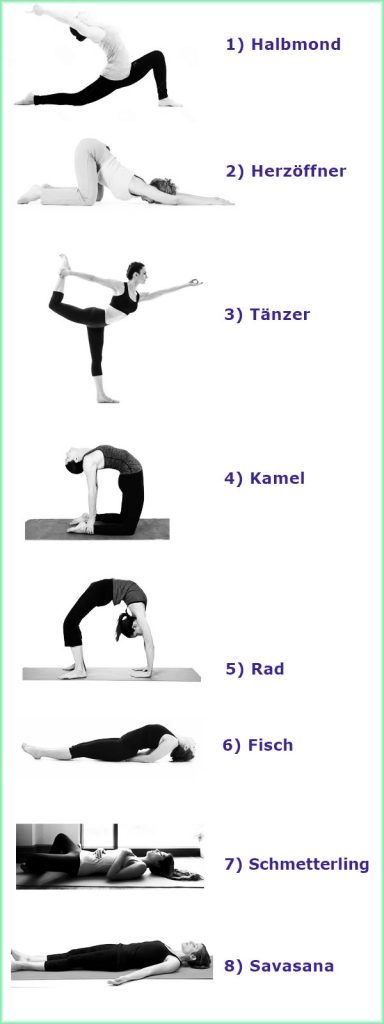 Yoga Übung Herz Chakra Sequenz
